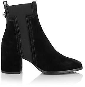 Tod's Women's Elastic T Suede Chelsea Boots