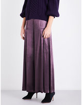 Temperley London Breeze wide-leg velvet trousers