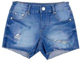 Tractr Girl's Distressed Raw Hem Shorts