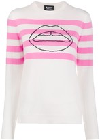 Markus Lupfer Striped Lips Sweater