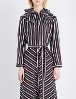 Nina Ricci Striped silk-crepe shirt