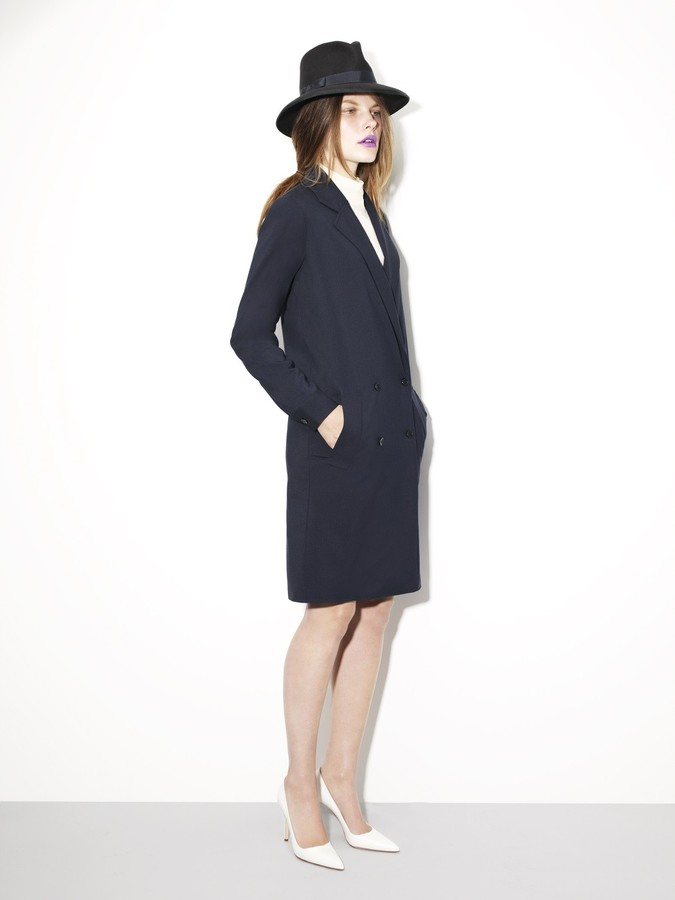 Kule Bacall Double-Breasted Coat Dress