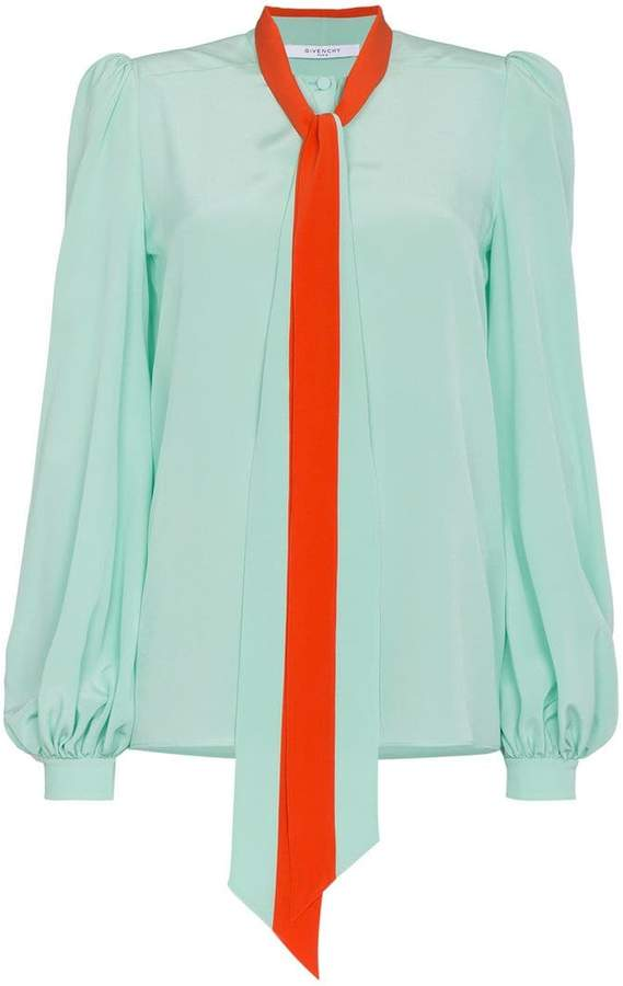 Givenchy tie neck blouse