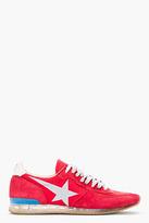 Golden Goose Red Suede Haus Sneakers
