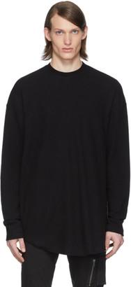 Julius Black Twist Knit Sweater