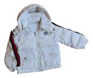 Gucci White Synthetic Jackets & Coats