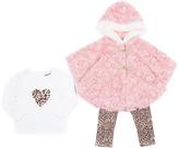 Little Lass Blush Faux Fur Jacket Set - Infant & Toddler