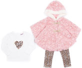 Little Lass Blush Faux Fur Jacket Set - Infant