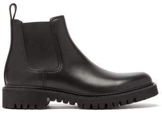 Valentino V Logo Debossed Leather Chelsea Boots - Mens - Black