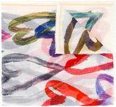 Faliero Sarti brushed hearts print scarf