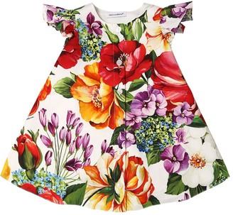 Dolce & Gabbana Cotton Poplin Dress W/ Diaper Cover