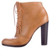 Elizabeth and James Leather Round-Toe Booties