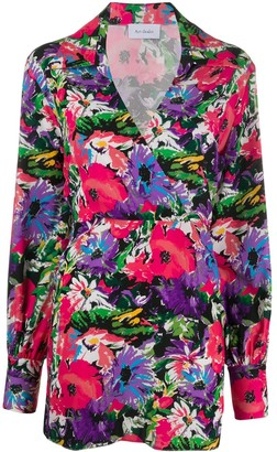 ART DEALER Floral Print Wrap Dress