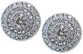 Lauren Ralph Lauren Silver-Tone Crystal Pavé Round Stud Earrings