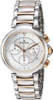 Edox Women's 10220 357RM Air LaPassion Analog Display Swiss Quartz Two Tone Watch