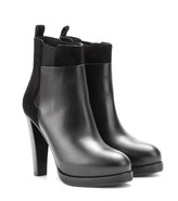 Balenciaga Leather and suede ankle boots