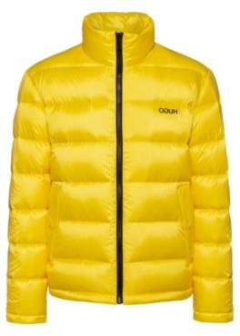 HUGO Relaxed-fit down jacket with reversed logos