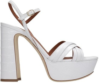 Malone Souliers Mila Sandals In White Leather