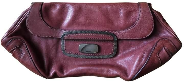 0fe5d4cb9824 Prada Burgundy Leather Handbags - ShopStyle