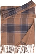 Elizabetta-Italian Reversible Soft Wool Plaid Scarf-Caramel