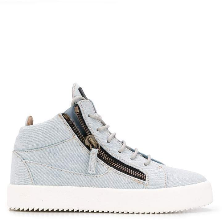 28e912e038070 Giuseppe Zanotti Blue Women's Sneakers - ShopStyle