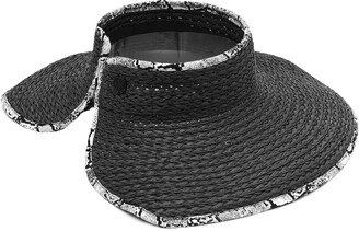 Vince Camuto Straw Roll-Up Visor