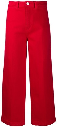 Tommy Hilfiger Cropped Wide-Leg Trousers