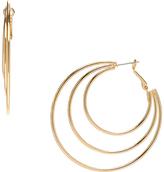 Carole Goldtone Three-Layer Hoop Earrings