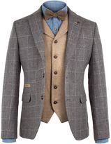 Gibson Men's Grey Window Pane Check Jacket