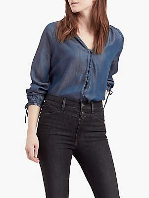 Levi's April Chambray Top, Medium Authentic Blue