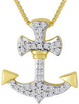 FINE JEWELRY 1/10 CT. T.W. Diamond Anchor Pendant Necklace