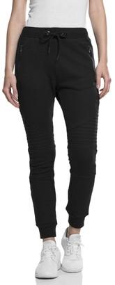 Urban Classics Women's Ladies Melange Biker Sweatpants Trouser