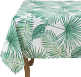 Saro Tahiti Leaf Print Square Topper