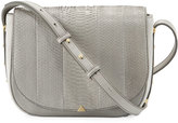 Brian Atwood Saylor Snakeskin Saddle Bag, Gray