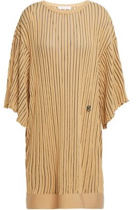 Chloé Draped Knotted Striped Jacquard-knit Blouse