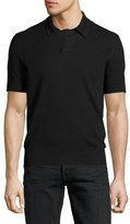Tom Ford Waffle-Knit Short-Sleeve Pullover, White