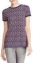 Lauren Ralph Lauren Petite Geo-Print Crewneck Shirt