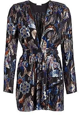 Ramy Brook Women's Shaina Lurex Silk Jacquard Dress