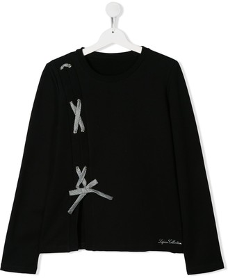 Lapin House TEEN lace-up detail T-shirt