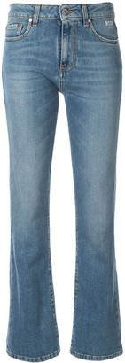 MSGM logo pocket kickflare jeans
