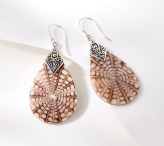 Artisan Crafted Pear Shaped Shell Earrings