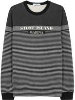 Stone Island Charcoal Striped Cotton Sweatshirt