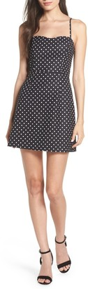 French Connection Dot Print Sleeveless Mini Dress