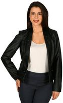 Women's Harve Benard Faux-Leather Moto Jacket
