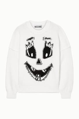 Moschino Intarsia Cotton Sweater - White