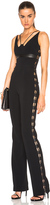 David Koma Side Lace Panel Jumpsuit