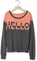 Gap Intarsia hello colorblock sweater