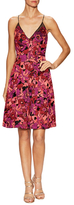 Badgley Mischka Floral Jacquard Cocktail Dress
