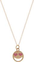 Alison Lou Enamel & yellow-gold Lovestruck necklace