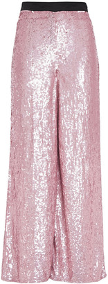Temperley London Sequined Tulle Wide-leg Pants